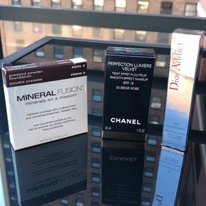 High end makeup bundle: Chanel Dior Mineral Fusion